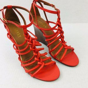 Lauren by Ralph Lauren Size 9.5B Ailey Poppy Nappa